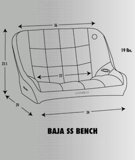Corbeau Baja Ss Bench Seat 36 Inch Pierside Parts