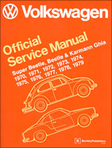 vw super beetle, beetle, ghia service manual