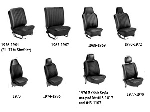 TMI Slip On Seat Covers Convertible Bug 68-69 Full Set